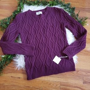 RUBY MOON purple knitted sweater medium NWT
